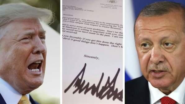 Turkeys'🇹🇷 President Erdogan 'Trashes 🇺🇸Trump's 🇸🇾Syria Letter in Bin'