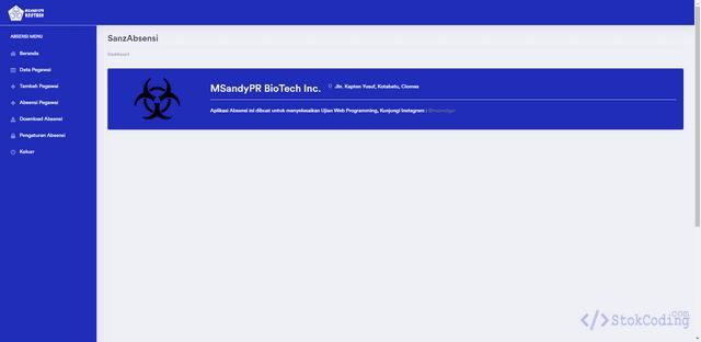 Sistem Informasi Absensi Berbasis Web (Codeigniter)