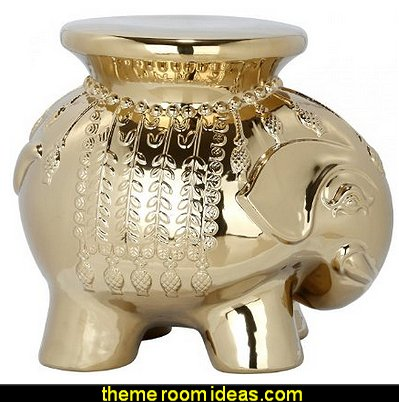 Safavieh Castle Gardens Collection Elephant Ceramic Garden Stool