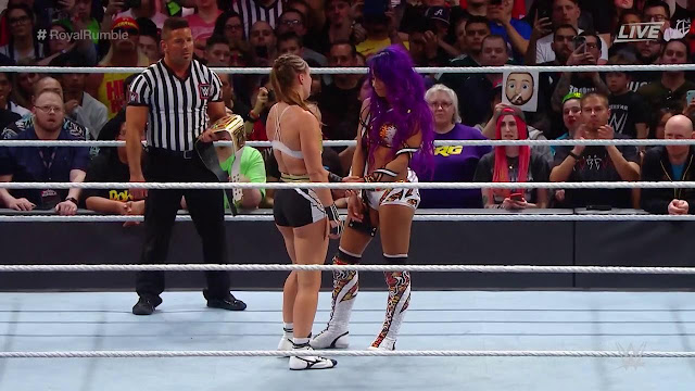 Ronda Rousey (c) Defeats. Sasha Banks To Retain Raw Women's Title