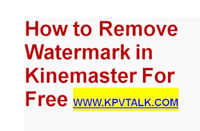 remove watermark in Kinemaster