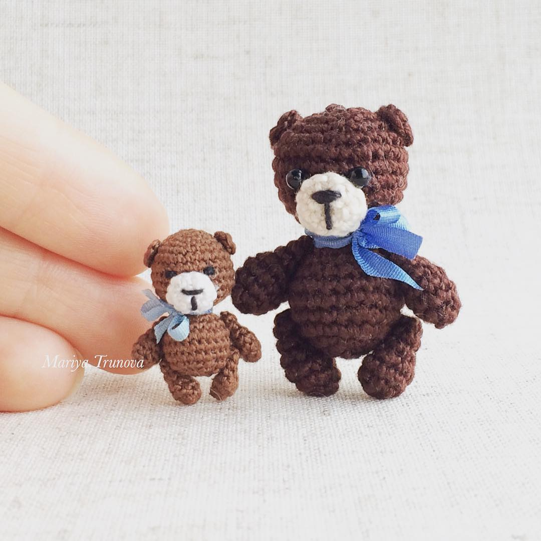 Tiny bears amigurumi