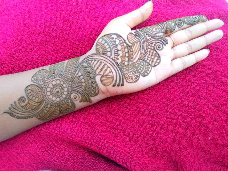 simple rajastani mehndi design