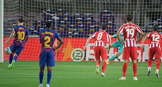 BREAKING: Messi scores 700th career goal against atletico Madrid
