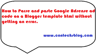 how to fix error when pasting html codes on blogger template