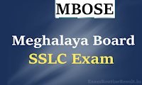 mbose sslc time table 2018 - meghalaya board sslc 10th date sheet 2018