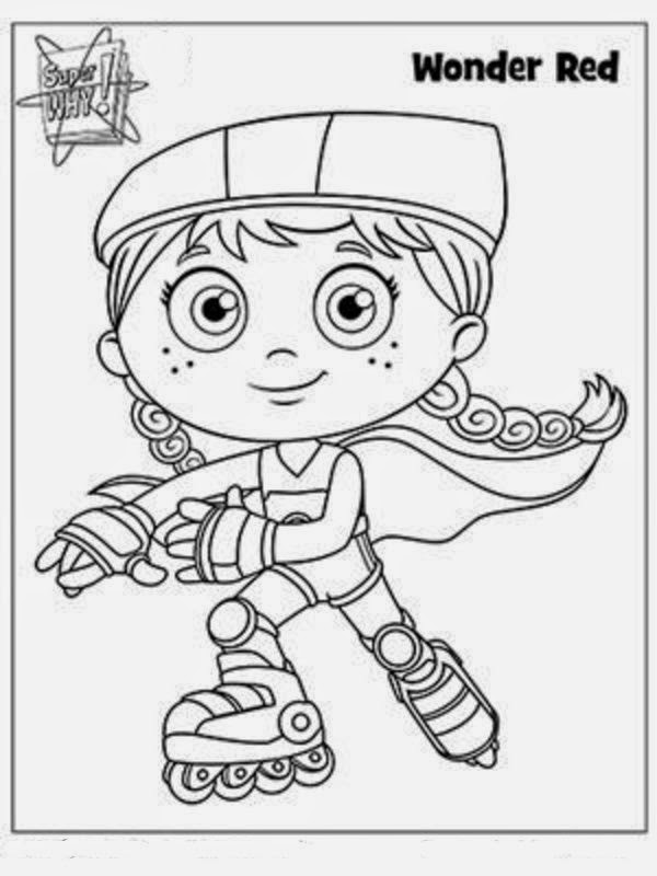 It's just a picture of Astounding Super Why Coloring Book