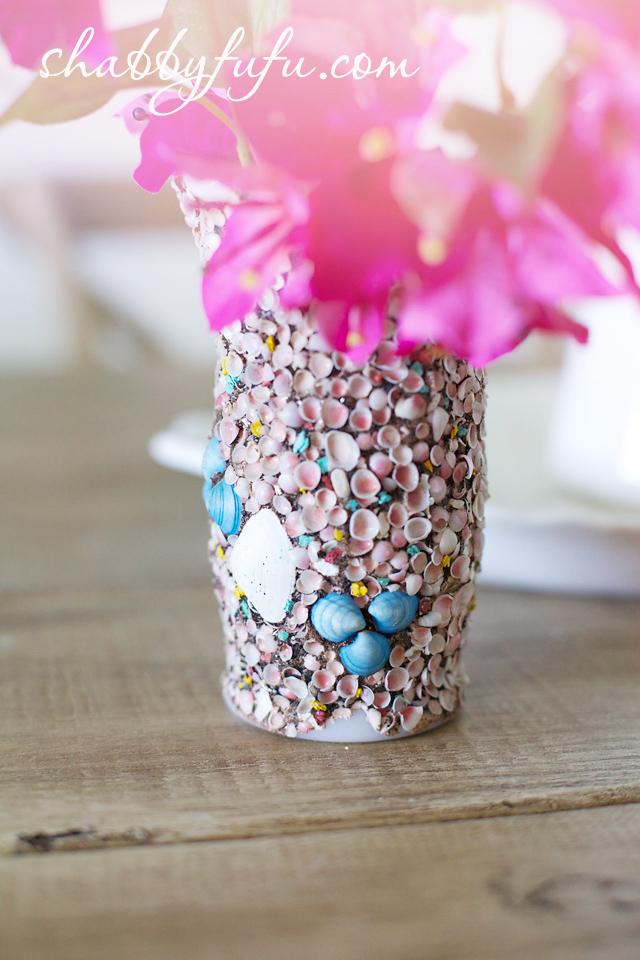 shell vase beach coastal