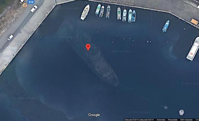 Viral Bangkai Kapal di Tokyo Jepang Terlihat di Google Maps
