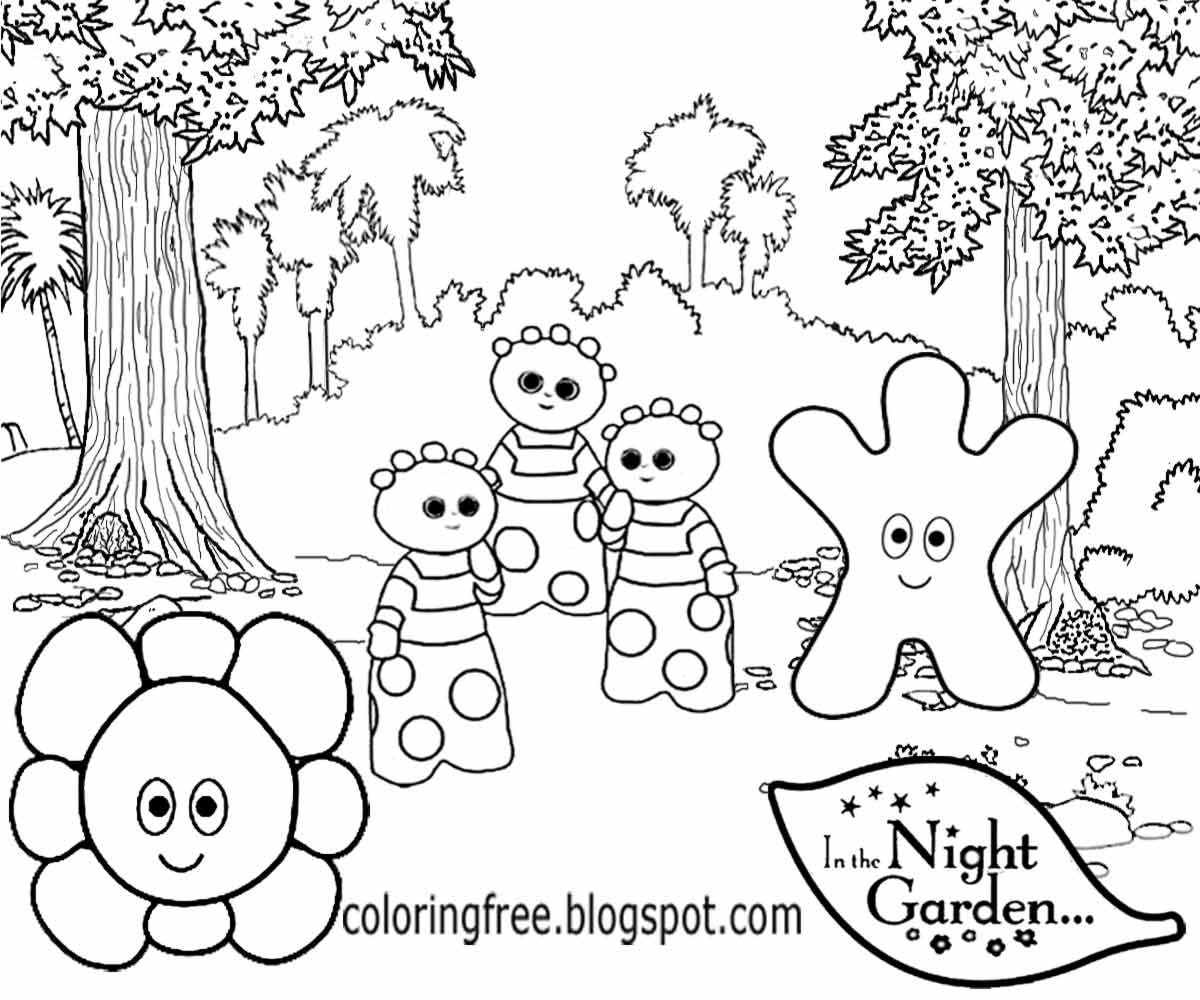 free coloring pages printable pictures to color kids drawing ideas  in the night garden coloring