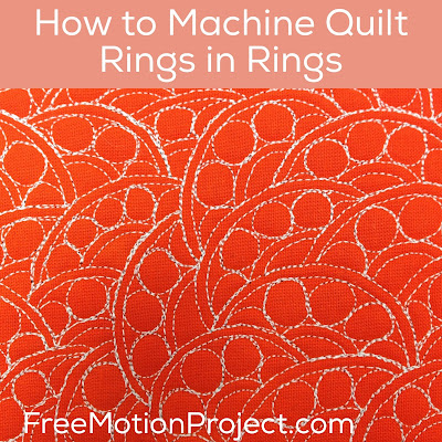 Rings in Rings machine quilting design and free video tutorial with Leah Day