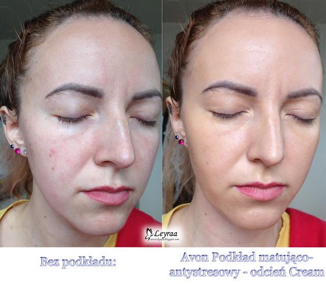 Avon Podkład matująco-antystresowy - odcień Cream