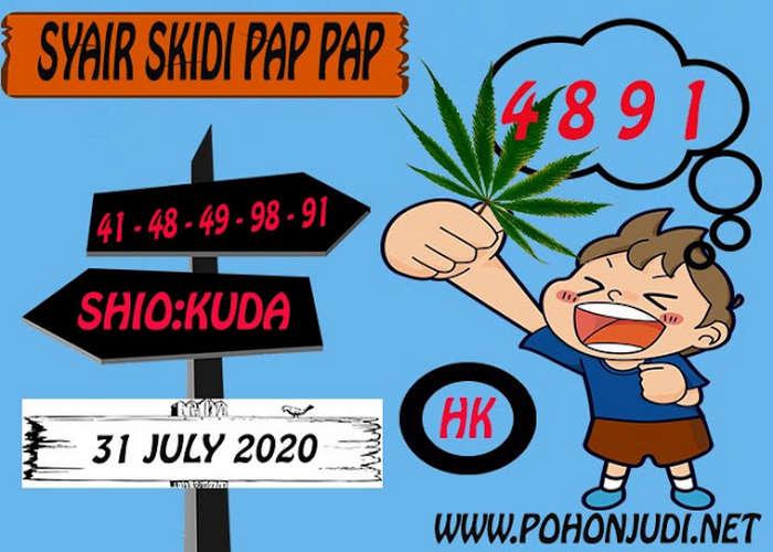 Kode syair Hongkong Jumat 31 Juli 2020 262