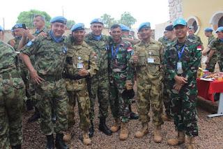 Konga XXXVII-B/Minusca Terima Penghargaan dari Kontingen Serbia