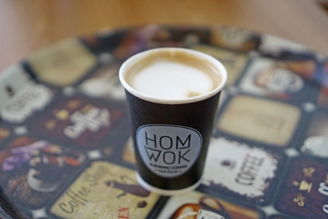 Menyesap kopi di HomWok Coffee Jogja