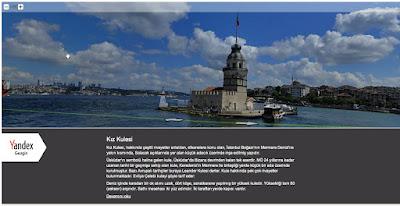 Türkiye'nin tarihi ve turistik yerlerini bilgisayar başından YandexGezgin ile gezebilirsiniz
