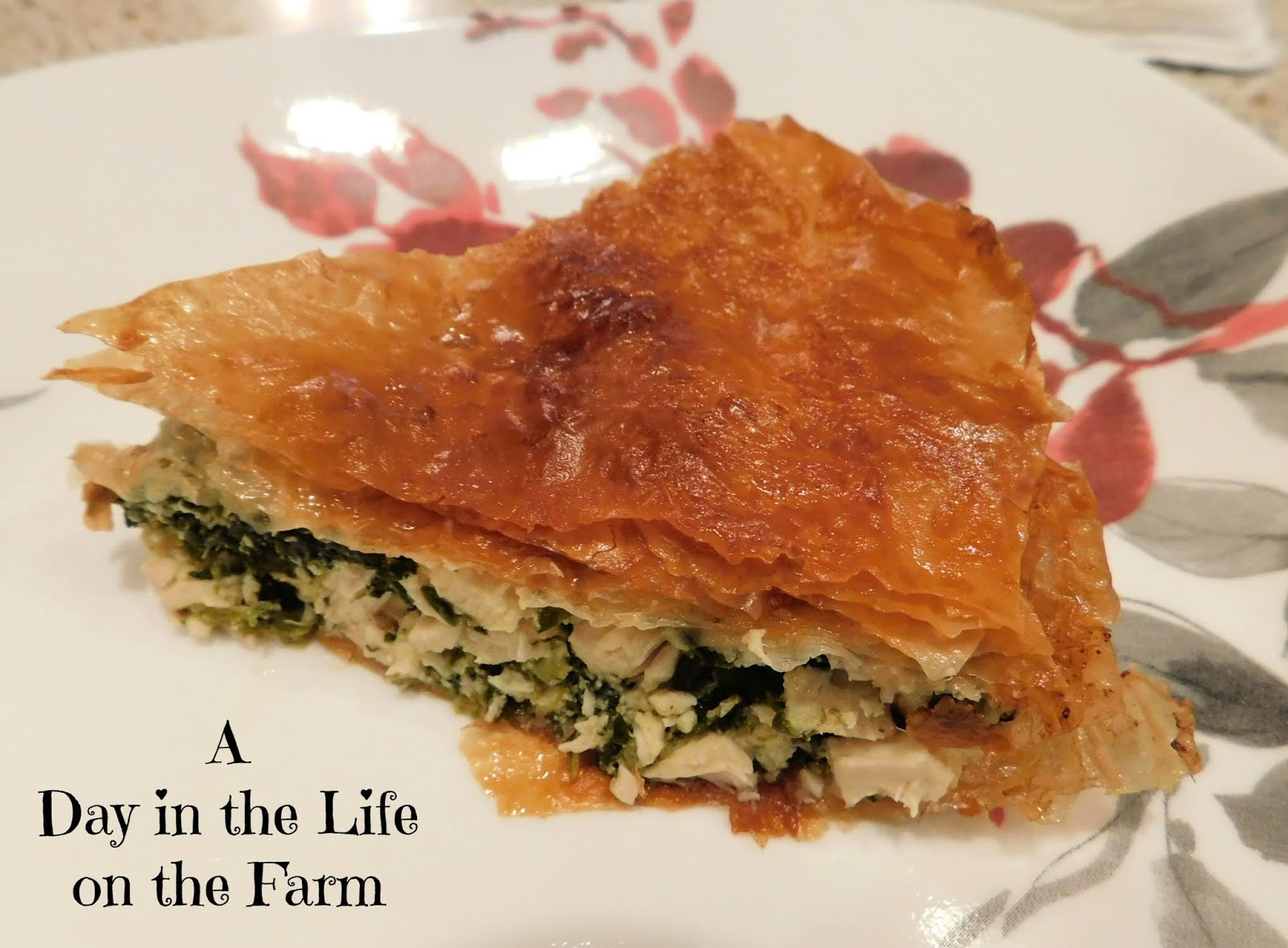 Greek Chicken and Spinach Pie