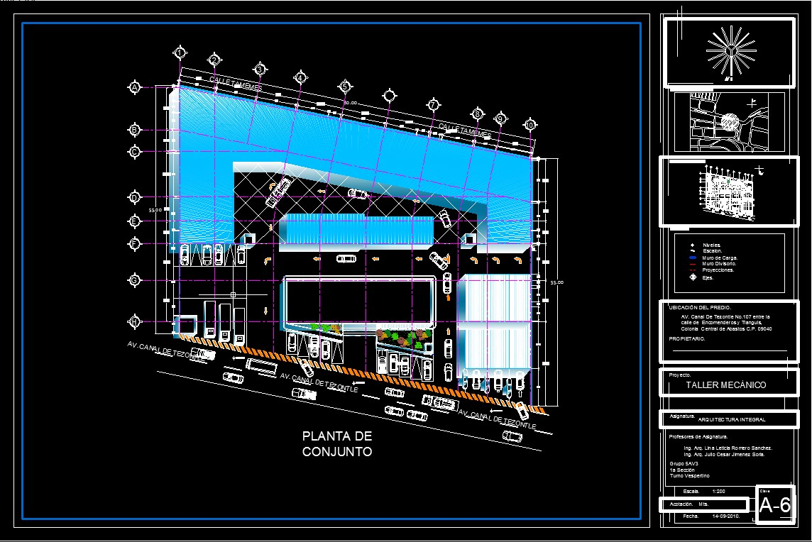 Ingenier a civil mark taller automotriz planos de for Planos de arquitectura