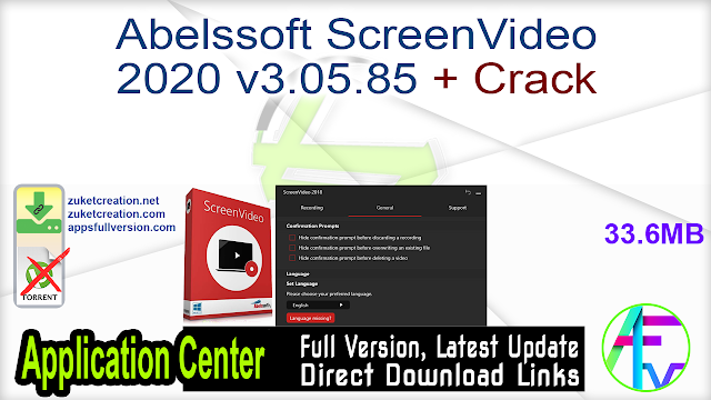 Abelssoft ScreenVideo 2020 v3.05.85 + Crack