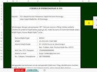 Format Permohonan E-Fin versi Excel