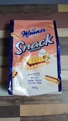 Manner Snack minis knusprige Milch Haselnuss Schnitten