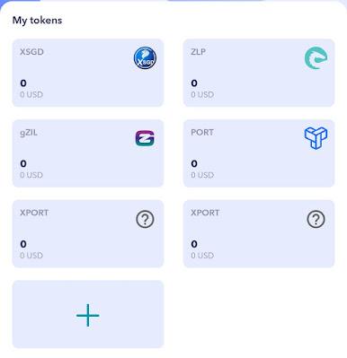 Cara Menggunakan ZilPay Apk dan Menambahkan Token PORT, XPORT dan MPORT