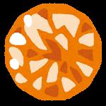 宝石のイラスト(オレンジ)