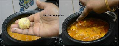 PARUPPU URUNDAI KUZHAMBU/ URUNDAI PULI KUZHAMBU - பருப்பு உருண்டை குழம்பு /உருண்டை புளி குழம்பு