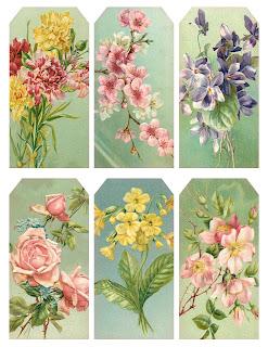 tag vintage flower free printable