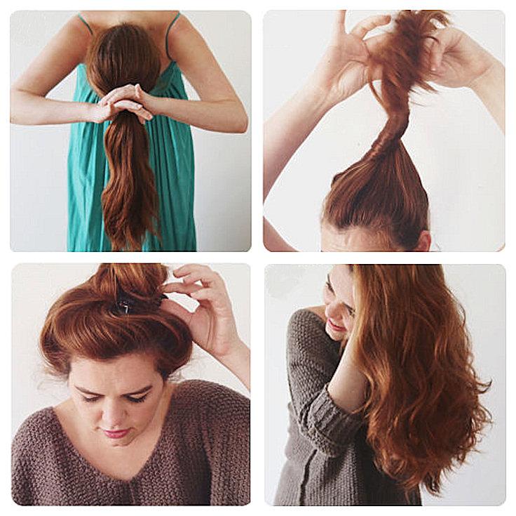 claw clip hair curls