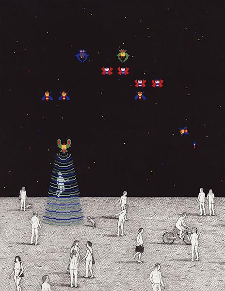 """Galaga"" por Ben Tolman, 2014. | imagenes, dibujos chidos, cool pictures"