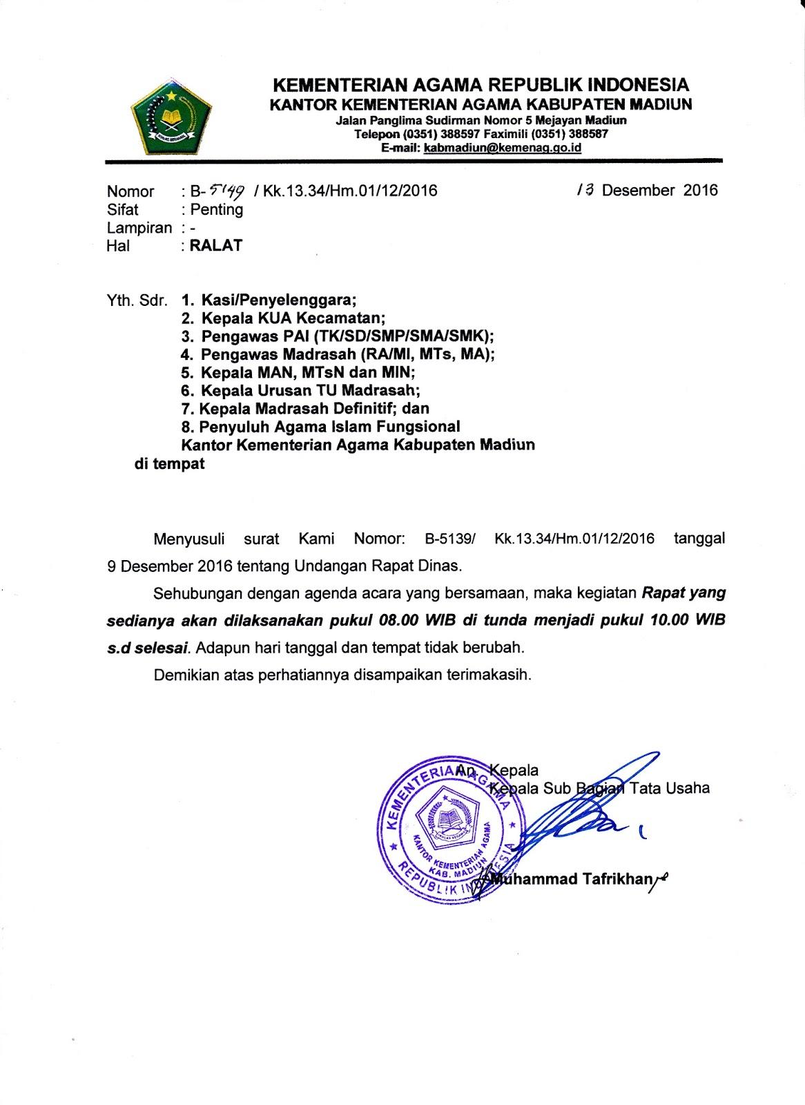 seksi pendidikan madrasah kabupaten madiun