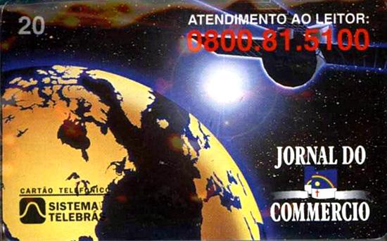 Cartão telefônico - Telebrás - Jornal do Commercio