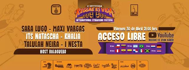 """Llega la primera versión del festival internacional """"Reggae Es Vida"""""""