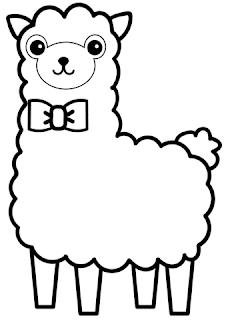 Llama Look A Sheep Coloring Sheet Animals