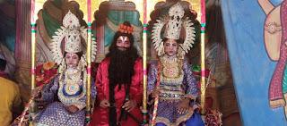 बाराबंकी : सीता स्वयंबर में आये रावण और बाणासुर में जमकर वाक युद्ध