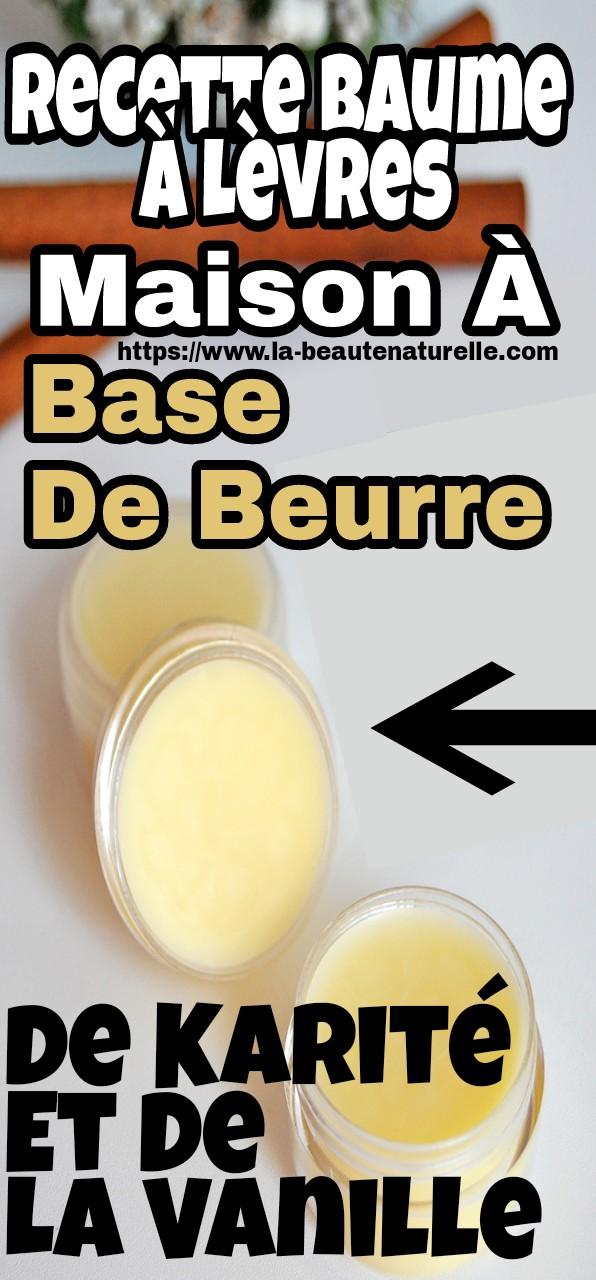 Recette baume à lèvres maison à base de beurre de karité et de la vanille