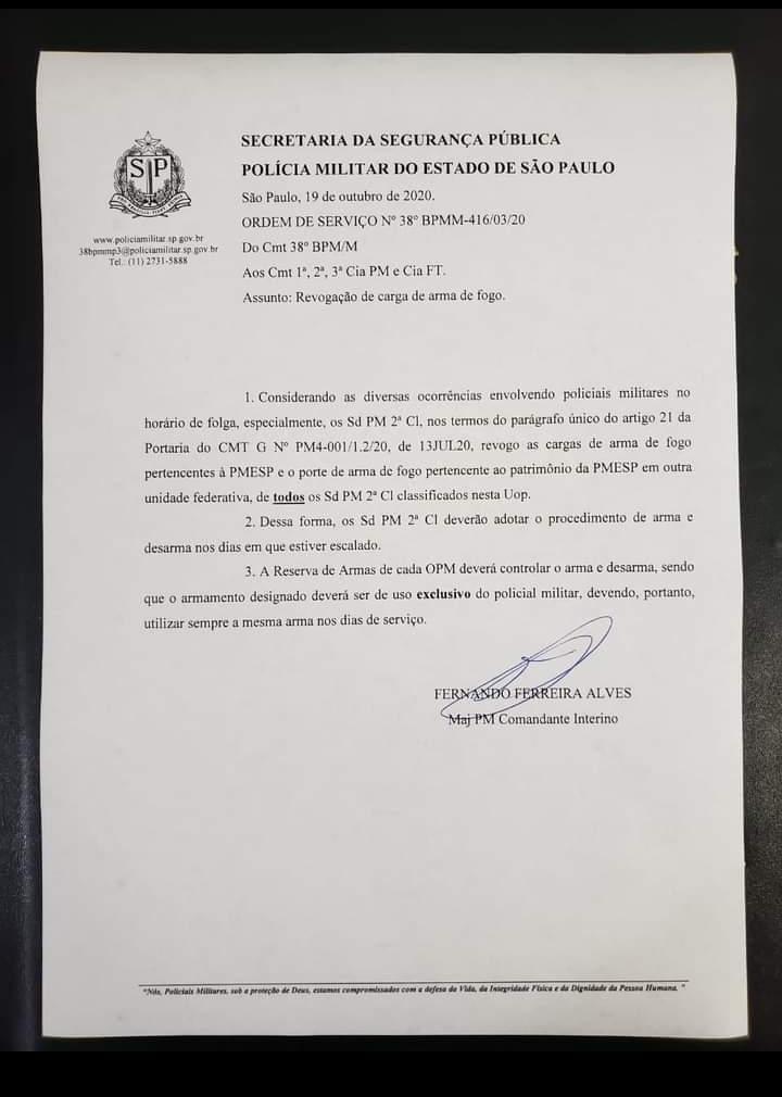 Ordem de Serviço | PM-SP