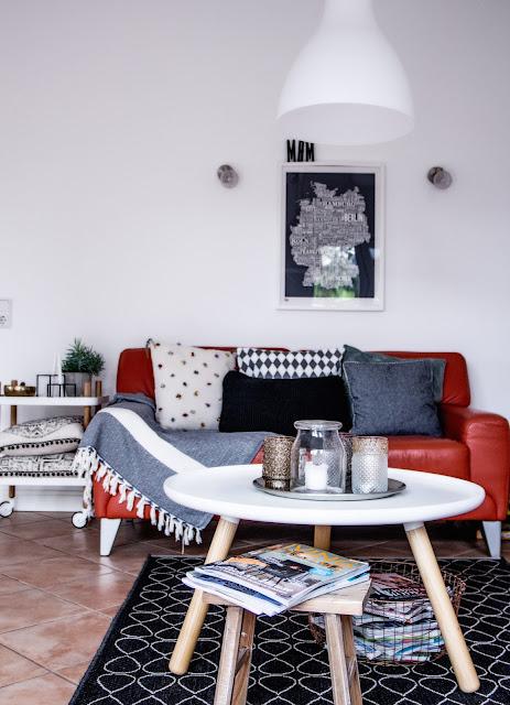 wohnzimmer, einrichten und dekorieren, skandinavisch wohnen und einrichten, Kissen Ikea