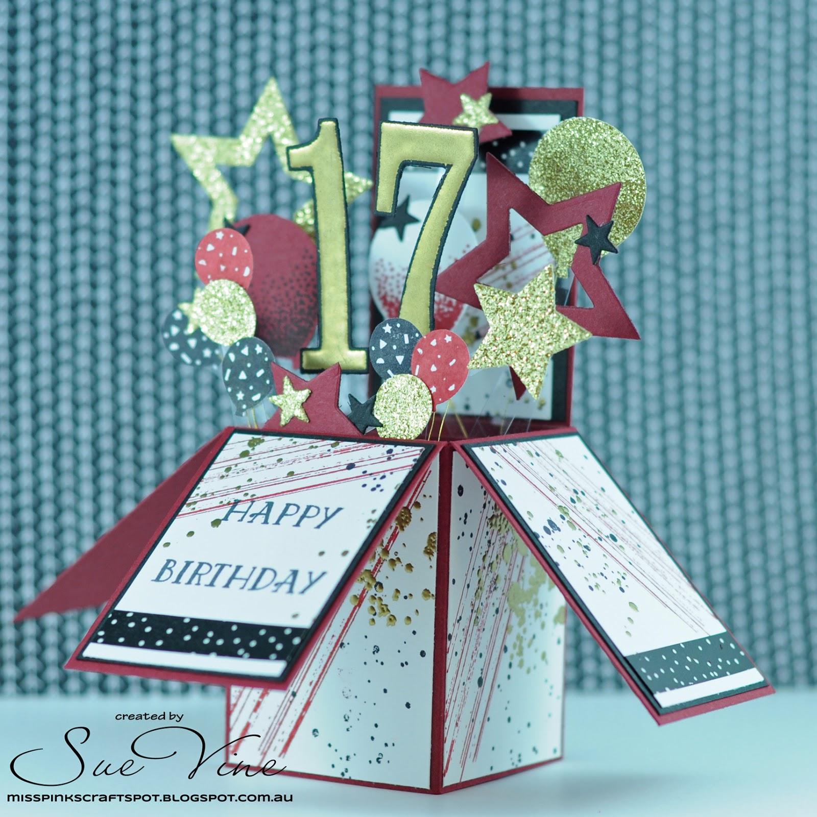 masculine birthday card in a box