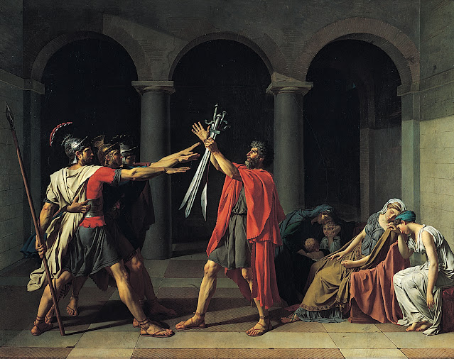 The Oath of the Horatii by Jacques-Louis David, 1784