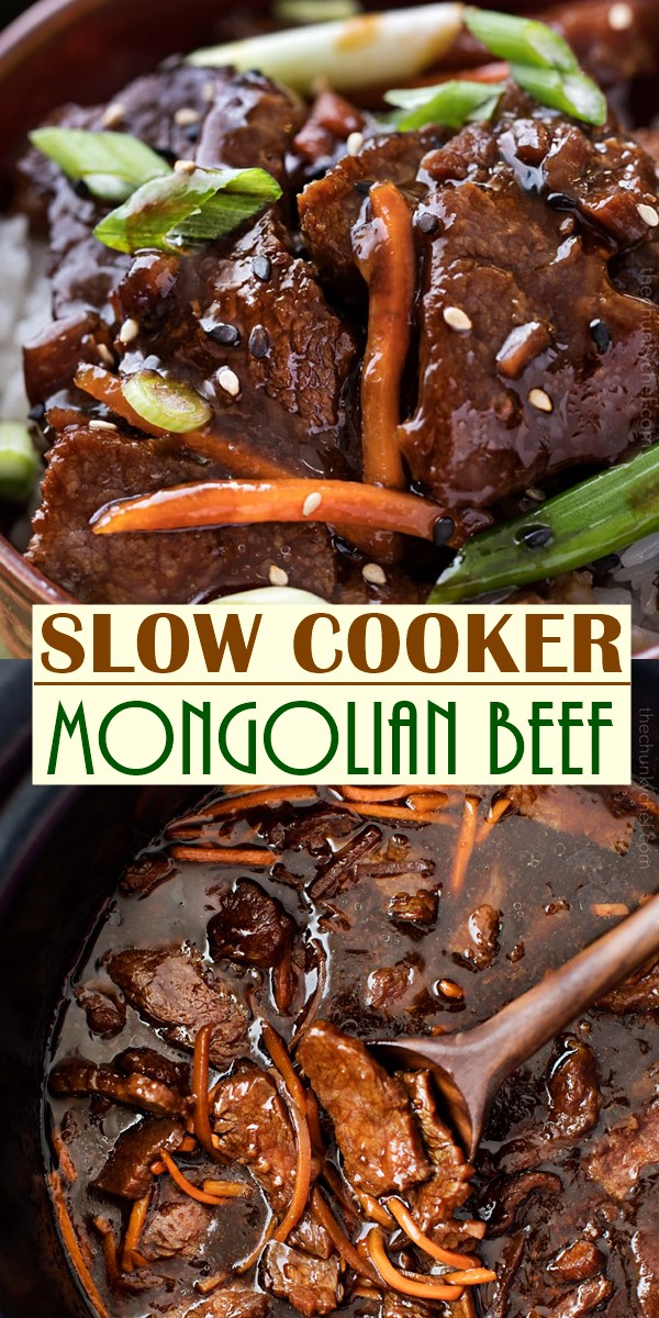 EASY SLOW COOKER MONGOLIAN BEEF RECIPE #slowcookerrecipes