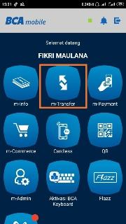 tutorial top up ovo via bca mobile