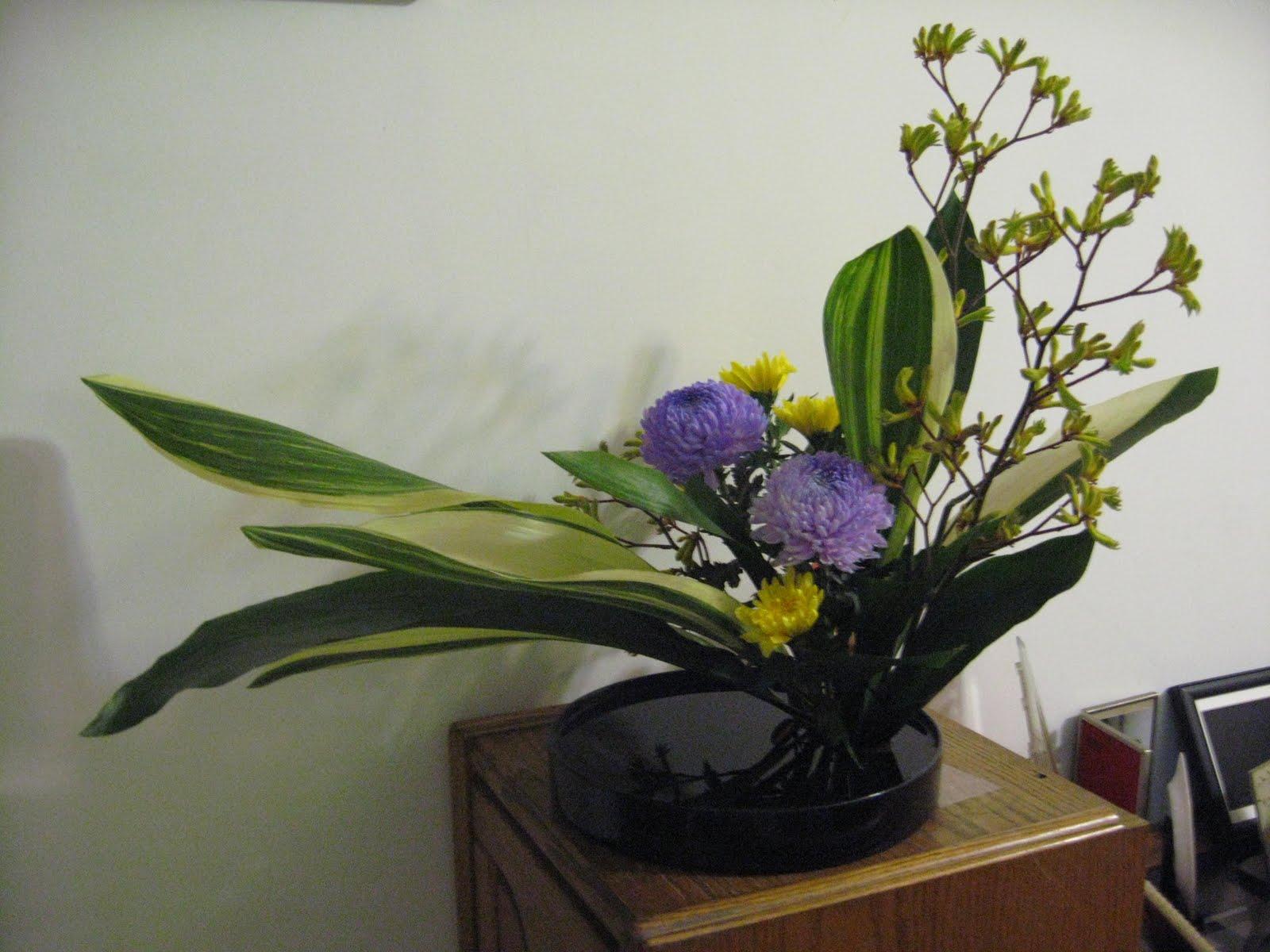 綺綺布作室: 中華花藝(講座-12)盤花-平出型第一型東點插