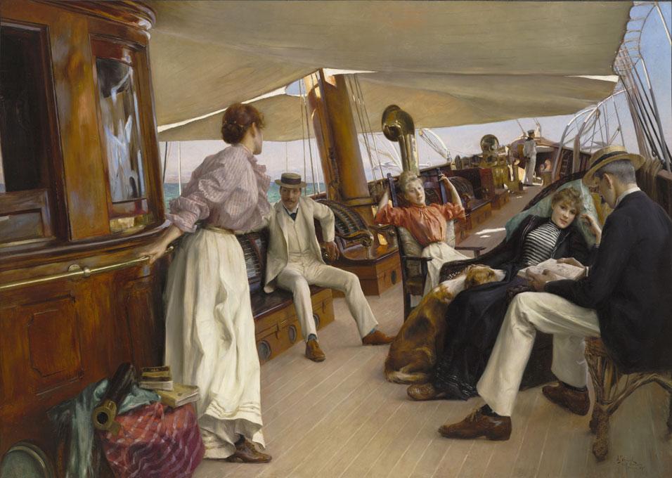Julius Le lanc Stewart On the Yacht Namouna Venice