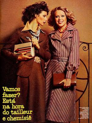 artigo moda inverno revista Manequim - 1975