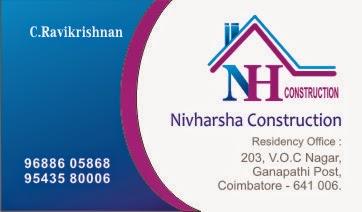 Nivharsha Constructions Visiting Card Design
