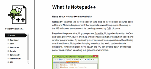 text editor notepad++