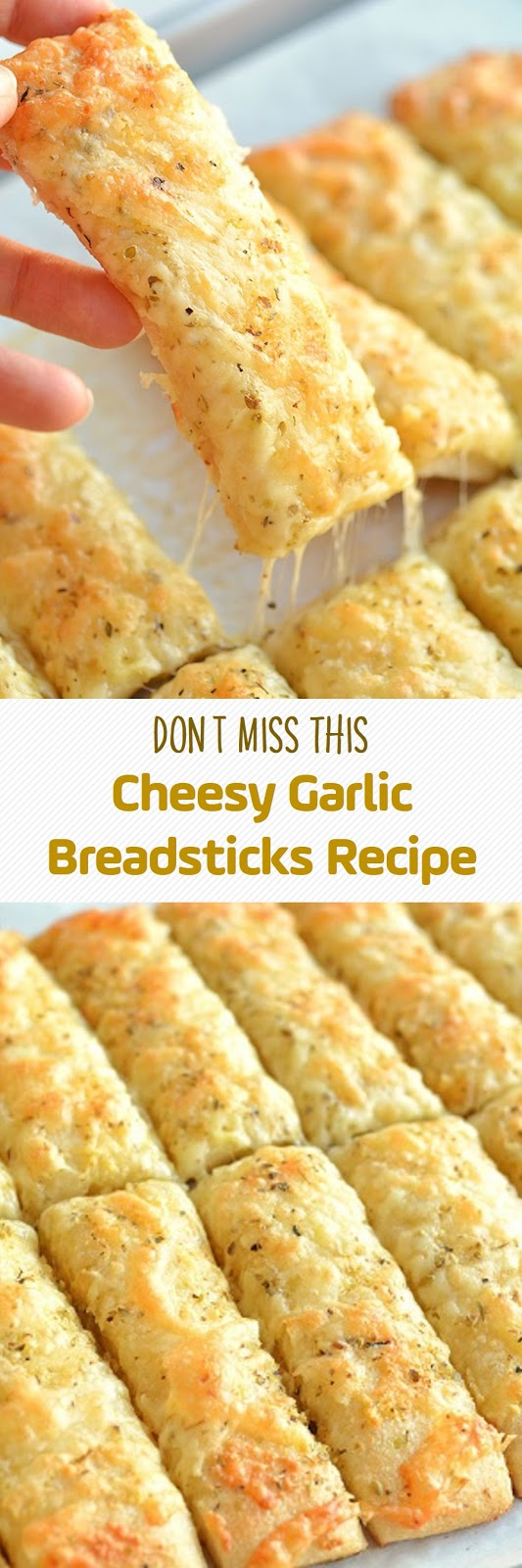 Don't Miss This Cheesy Garlic Breadsticks Recipe
