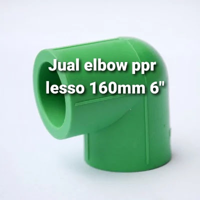 "Terjual online pipa ppr dan elbow 6"" lesso"